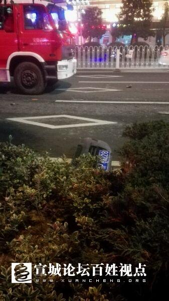 昨天晚上车祸现场图